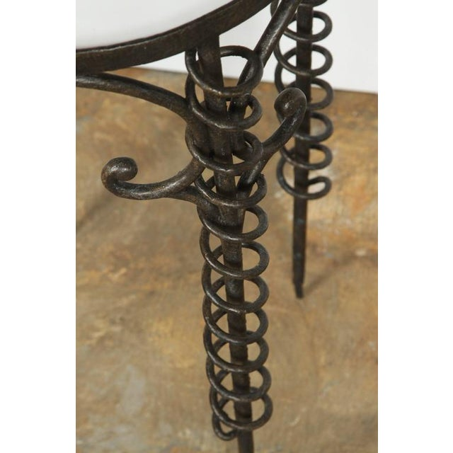 Sculptural Bronzed Iron Side Table - Image 7 of 7