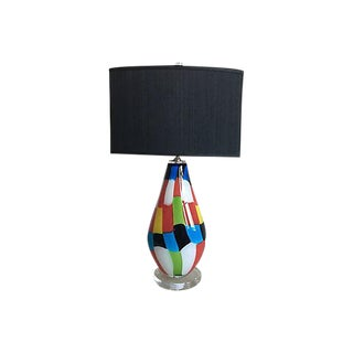 Art Glass Lamp w/Shade