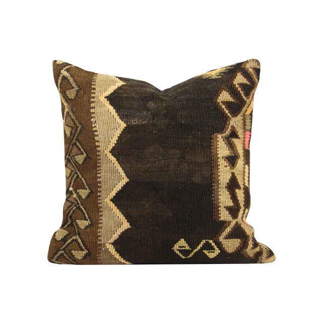 """20"""" Square Overstuffed Kilim Pillow - Image 1 of 3"""