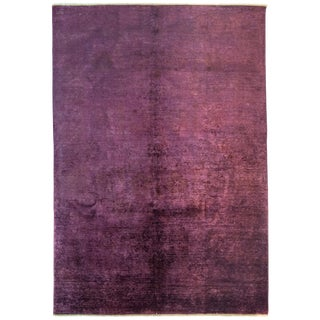 """Pink Over Dyed Hand Knotted Rug- 6' 2"""" x 8' 9"""""""
