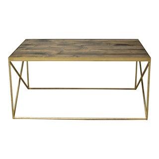 Beale Industrial Wood Coffee Table