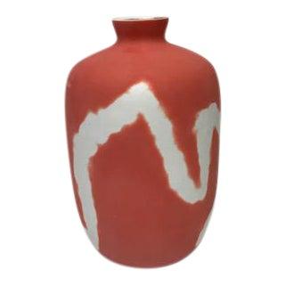 Red Swirl Vase