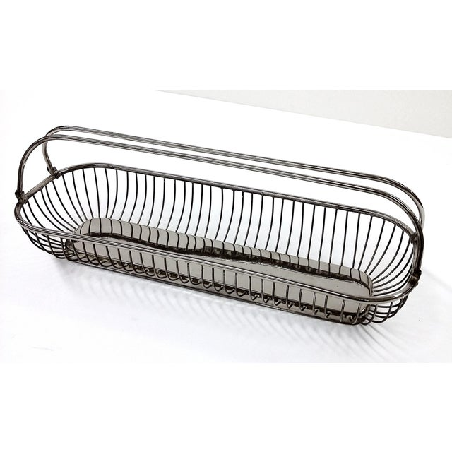 Silver Plate Wire Bread Basket - Image 2 of 8