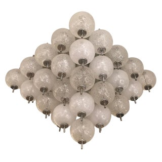 Murano Flush Mount Fixture Attributed to Seguso