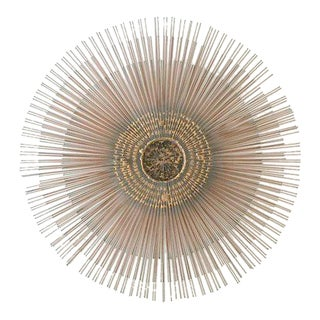 Bruce & William Friedle Metal Starburst Sunburst Wall Sculpture