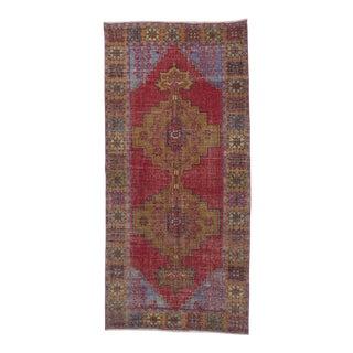 Distressed Decorative Turkish Rug - 4′6″ × 9′5″