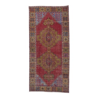 Distressed Decorative Turkish Rug - 4′6″ × 9′5″