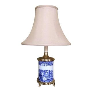 "Spode 21"" Blue Room Asian Footed Lamp"