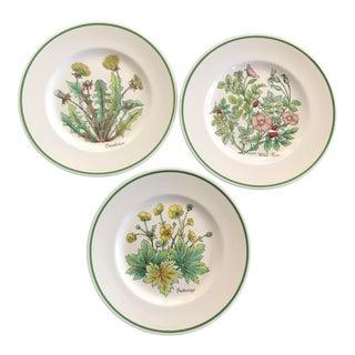 Tiffany & Co Wild Flowers Dessert Plates - Set of 3