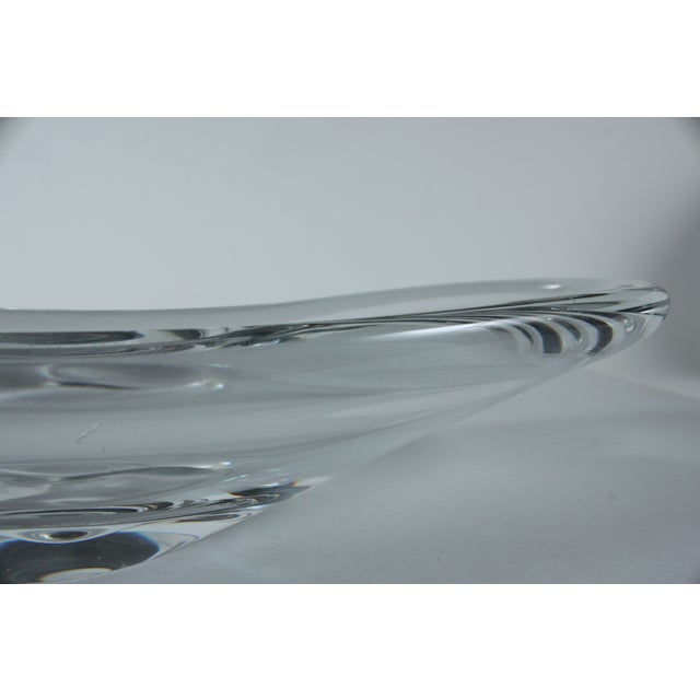 Image of Vintage Handblown Clear Glass Dish