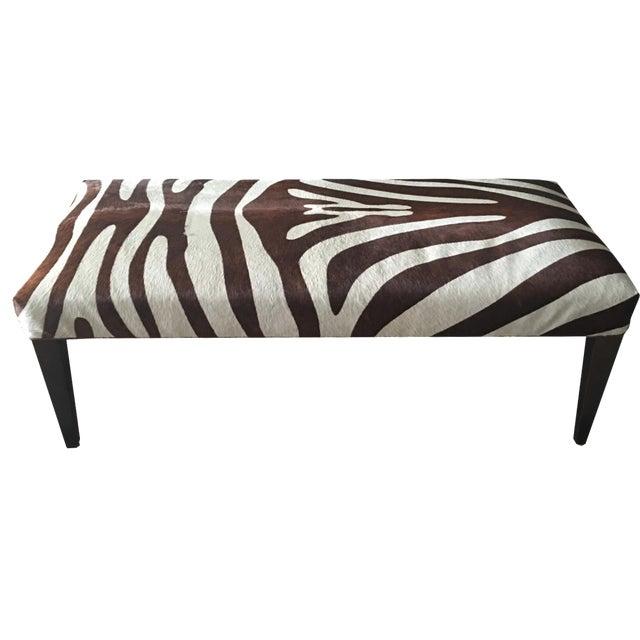 Brown Zebra Bench - Image 1 of 4