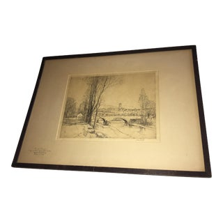 Andre Smith Artist Proof River Road Etching
