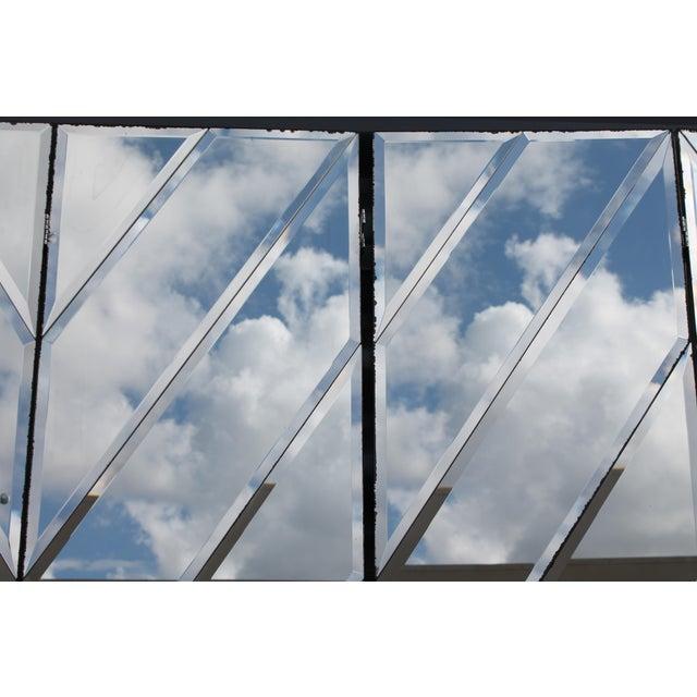 Mid-Century Modern Beveled Mirror Screen - Image 9 of 11