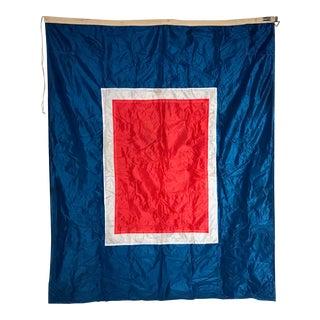 """Vintage """"W"""" Nautical Flag"""