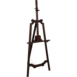 French Country Style Walnut Adjustable Painting Easel