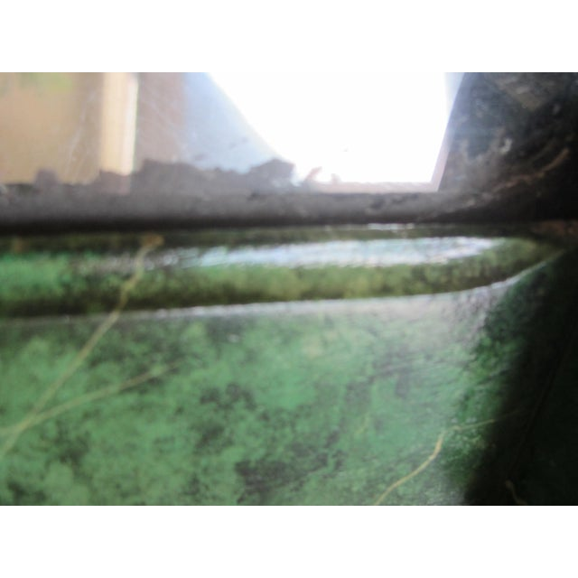 Refurbished Vintage Green Faux Marble Mirror - Image 6 of 7