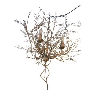 Artisan Crafted Twig Three Light Chandelier
