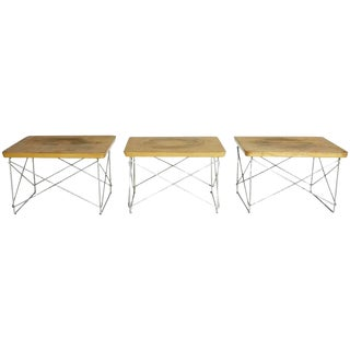1950s Early Production Eames for Herman Miller Birch LTR Tables- Set of 3