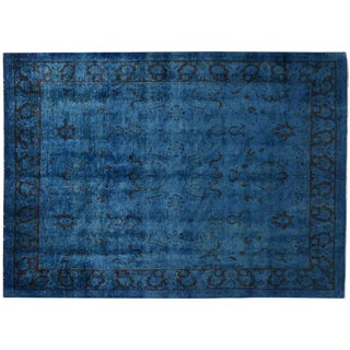 Overdyed Royal Blue Rug - 7′9″ × 10′4″