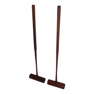English Wooden Croquet Mallets - A Pair