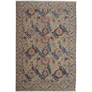 Hand Knotted Fine Oushak Rug - 10′8″ × 13′10″
