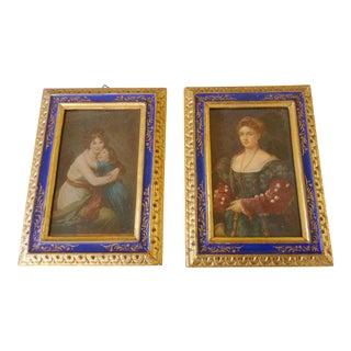 Italian Prints in Gilt Frames, Pair