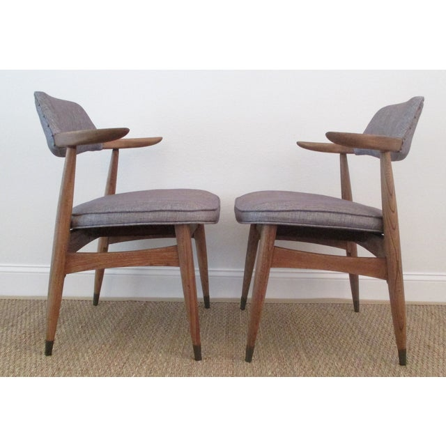 MCM Reupholstered Oak Chairs by Paoli - A Pair - Image 4 of 8