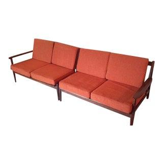 Vintage Mid-Century Modern Sofa Set - A Pair