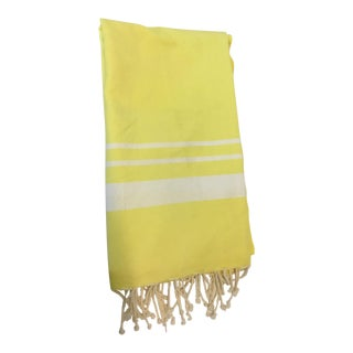 Solid Yellow Tunisian Fouta Towel