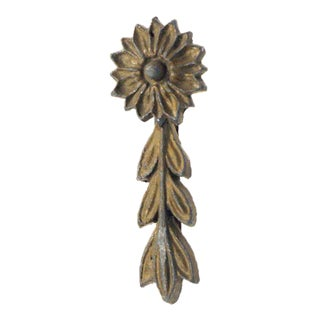 Floral Decorative Cast Brass Applique