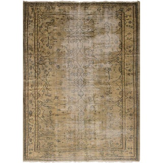 Turkish Beige Wool Pile Rug - 6′5″ × 9′1″