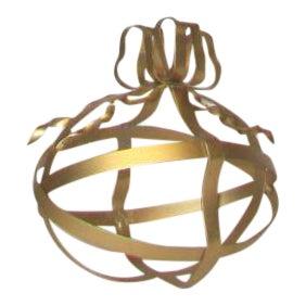 Gold Tole Decorative Egg
