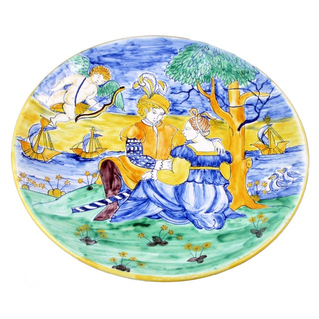 Hand Painted Romeo & Juliet Porcelain Bowl - Image 1 of 2