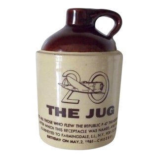 """P47 Fighter Plane """"20 the Jug"""" Commerative Whiskey Jug"""