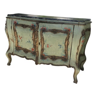 Floral Bombe Style Cabinet