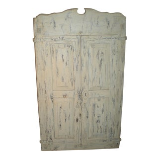 French Country Armoire with Iron Stand