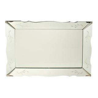 Mid-Century Hollywood Regency Scalloped Wall Mirror