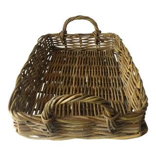 Vintage Handled Wicker Basket