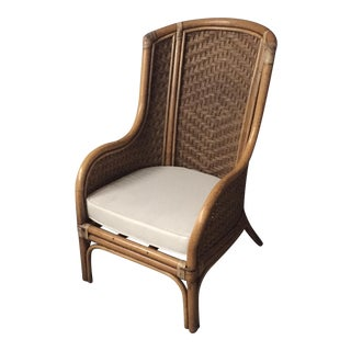 Panamanian Rattan Wingback Chair