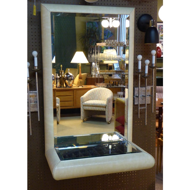 Image of Springer Style Mirror Console in Faux Lizard by Jaru, California