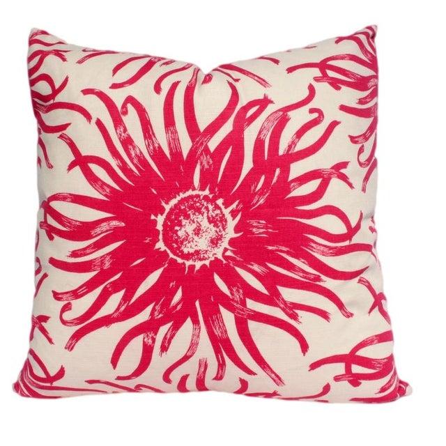 Modern Pink Pillow : Modern Pink Flower Pillow Chairish