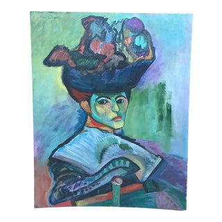 """Henri Matisse 1905 """"Woman With a Hat"""" Print"""