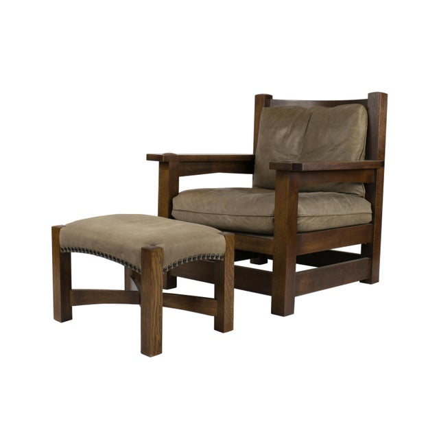 Stickley Co. Eastwood Chair And Ottoman - Image 1 of 10