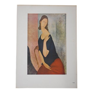 Vintage Ltd. Ed. Modernist Lithograph-Amadeo Modigliani-Folio Size