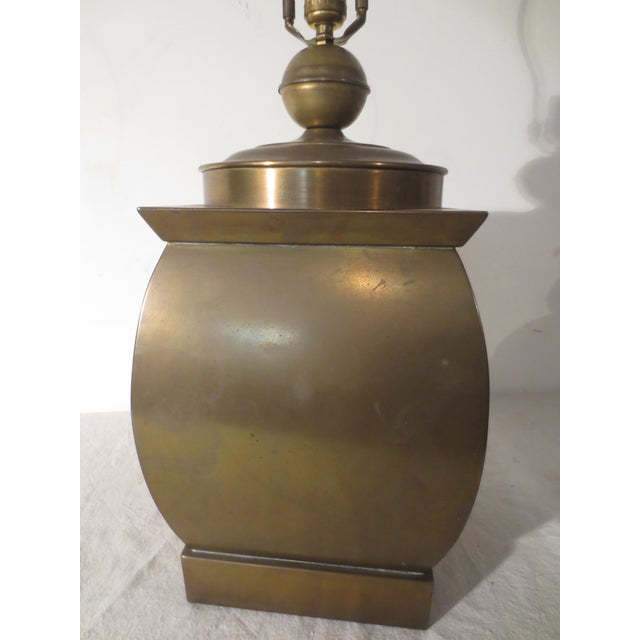 Vintage 60s Pair of Brass Table Lamps - Image 4 of 6