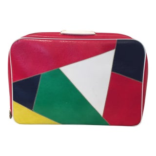 60's Multi-Colored Vinyl Suitcase