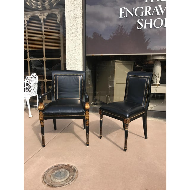 French Empire Leather Chairs - a Pair - Image 3 of 7