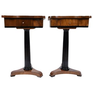Vintage Empire-Style End Tables - A Pair