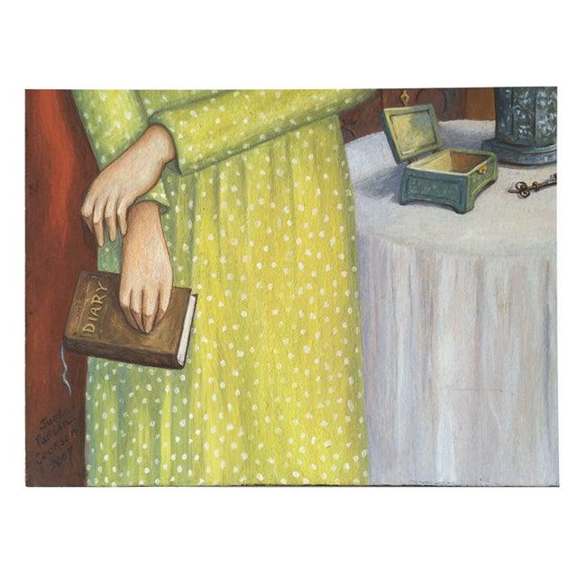 June Parrish Cookson Original Casein Painting - Image 2 of 6