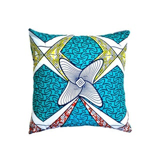 Boomerang Wax Print Pillows - a Pair